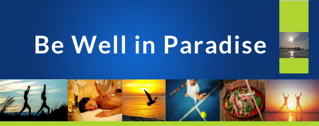 Be Well in Paradise Background image